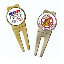 Logo Golf Round Color Magic Divot Tool