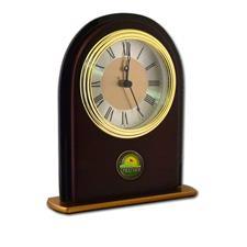 Logo Golf Vertical Mahogany Desk Clock