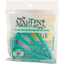 Martini Step Up Tees - 3 1/4 Inch - Aqua - 5 CT