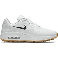 Nike White-Black-Gum Light Brown Air Max 1G Golf Shoes for Women