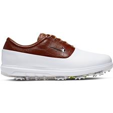 Nike White-Chrome-Light British Tan Air Zoom Victory Tour Golf Shoes