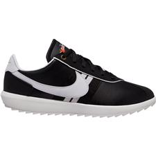 Nike Black-White-Metallic Gold Cortez G Golf Shoes for Women