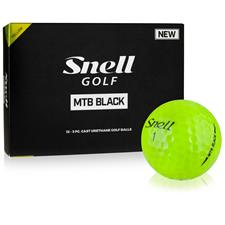 Snell MTB Black Yellow Golf Balls