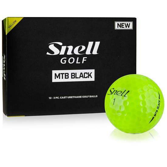 Snell MTB Black Yellow Golf Balls