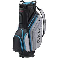 Titleist Lightweight Cart Bag - Black-Sleet-Process Blue
