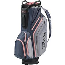 Titleist Lightweight Cart Bag - Charcoal-Sleet-Pink