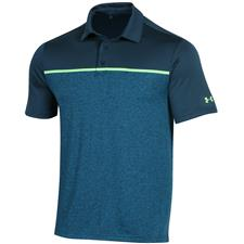 Under Armour Tandem Teal-Lime Light Playoff 2.0 Sleeve Chest Stripe Polo