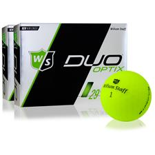 Wilson Staff Duo Soft Optix Matte Green Golf Balls - 2 Dozen