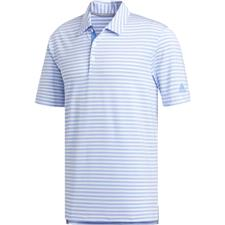 Adidas White-Real Blue Ultimate 2.0 2-Stripe Polo