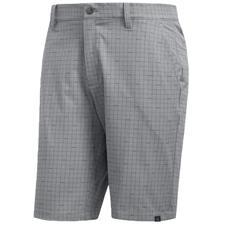 Adidas Grey Three Ultimate Plaid Short