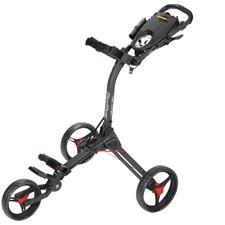 BagBoy Compact 3 Push Cart - Matte Black-Red