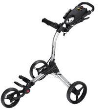 BagBoy Compact 3 Push Cart - Silver-Black