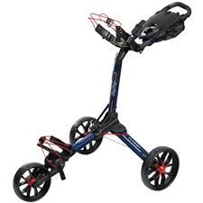BagBoy Nitron Auto-Open Push Cart - Navy-Red