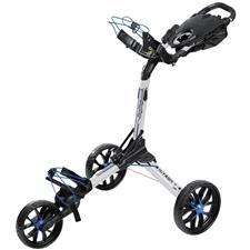 BagBoy Nitron Auto-Open Push Cart - White-Cobalt