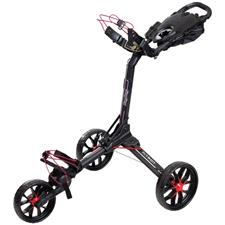 BagBoy Nitron Auto-Open Push Cart - Black-Red
