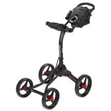 BagBoy Quad XL Push Cart - Matte Black-Red