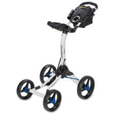 BagBoy Quad XL Push Cart - White-Cobalt
