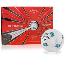 Callaway Golf Chrome Soft Truvis Golf Ball w/ Golfballs.com Logo