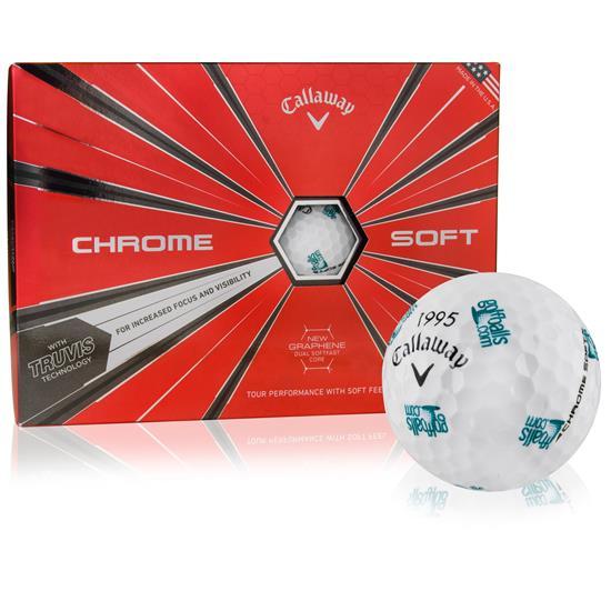 Callaway Golf 2018 Chrome Soft Truvis GolfBall w/ Golfballs.com