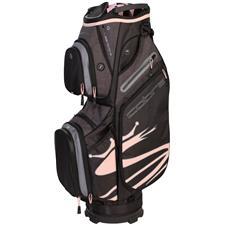 Cobra Ultralight Cart Bag for Women - Black-Pale Pink