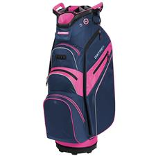 Datrek Lite Rider Pro Cart Bag for Women - Navy-Pink-Silver
