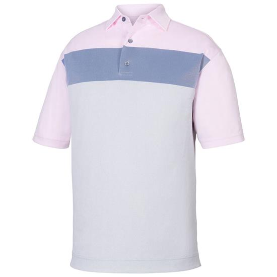 FootJoy Men's Birdseye Jacquard Colorblock Self Collar Polo