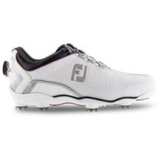 FootJoy White-Navy-Red D.N.A. Helix BOA Golf Shoe - 2019 Model
