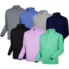 FootJoy Men's Drop Needle Half-Zip Pullover with Gathered Waist