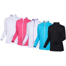 FootJoy Custom Logo Full-Zip Panel Pocket Mid Layer for Women
