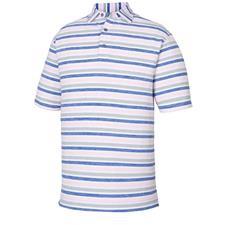 FootJoy Small Lisle Melange Stripe Self Collar Polo