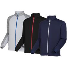 FootJoy Custom Logo Ribbed Sweater Fleece Jacket