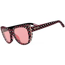 Goodr Gopher A Flamingo Sunglasses for Women - Flamingo Wrap-Rose Gold Frame - Rose Lens