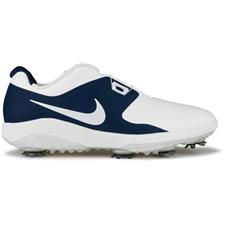 Nike White-Metallic White-Midnight Navy-Volt Vapor Pro BOA Golf Shoes