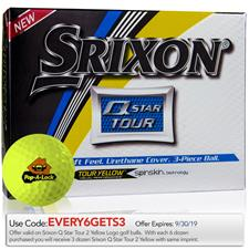 Srixon Custom Logo Q-Star Tour 2 Yellow Golf Balls