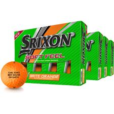 Srixon Soft Feel Brite Orange ID-Align Golf Ball - Buy 3 Get 1
