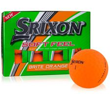 Srixon Soft Feel Brite Orange Personalized Golf Ball