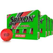 Srixon Soft Feel Brite Red ID-Align Golf Ball - Buy 3 Get 1 Free