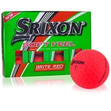 Srixon Soft Feel Brite Red Personalized Golf Ball