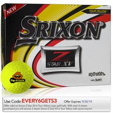 Srixon Custom Logo Z Star XV Yellow Golf Balls - 2019 Model