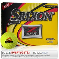Srixon Custom Logo Z Star Yellow Golf Balls - 2019 Model