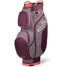 Sun Mountain Diva Cart Bag for Women - Plum-Plum Heather-Coral