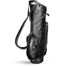 Sun Mountain Leather Cart Bag - Black-White