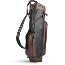 Sun Mountain Leather Cart Bag - Black-Brown
