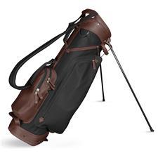 Sun Mountain Leather Stand Bag - Black-Dark Brown