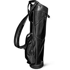 Sun Mountain Leather Sunday Bag - Black-White