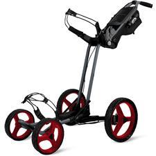 Sun Mountain Pathfinder 4 Push Cart - Magnetic Gray-Red