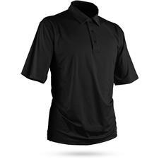 Sun Mountain Black Heather Short Sleeve Polo