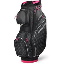 Sun Mountain Sierra Cart Bag for Women - Black-White Dot-Pink