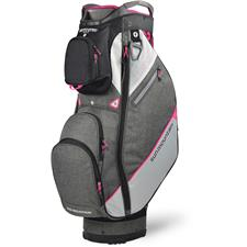 Sun Mountain Sync Cart Bag for Women - Black-Iron-White-Pink