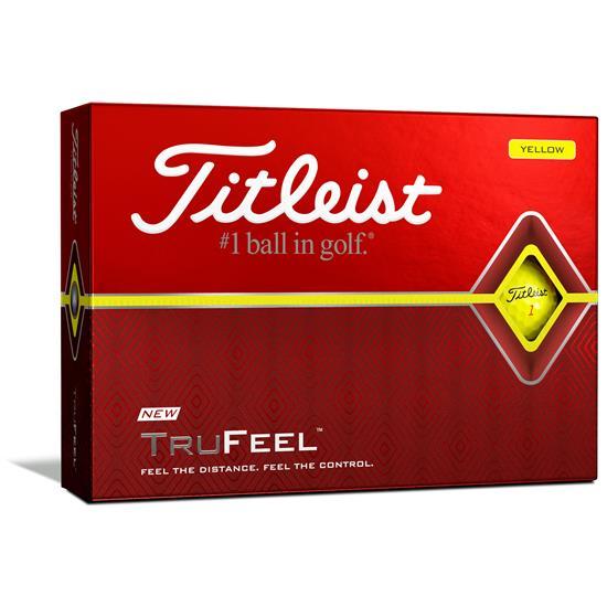 Titleist TruFeel Yellow Golf Balls